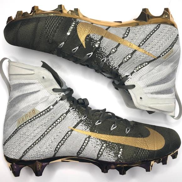 AH7408-170 Nike Vapor Untouchable 3 Elite Football Cleats Metallic Gold SZ